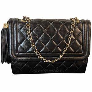 Chanel Matelasse Quilted Lambskin Flap Tassel Bag